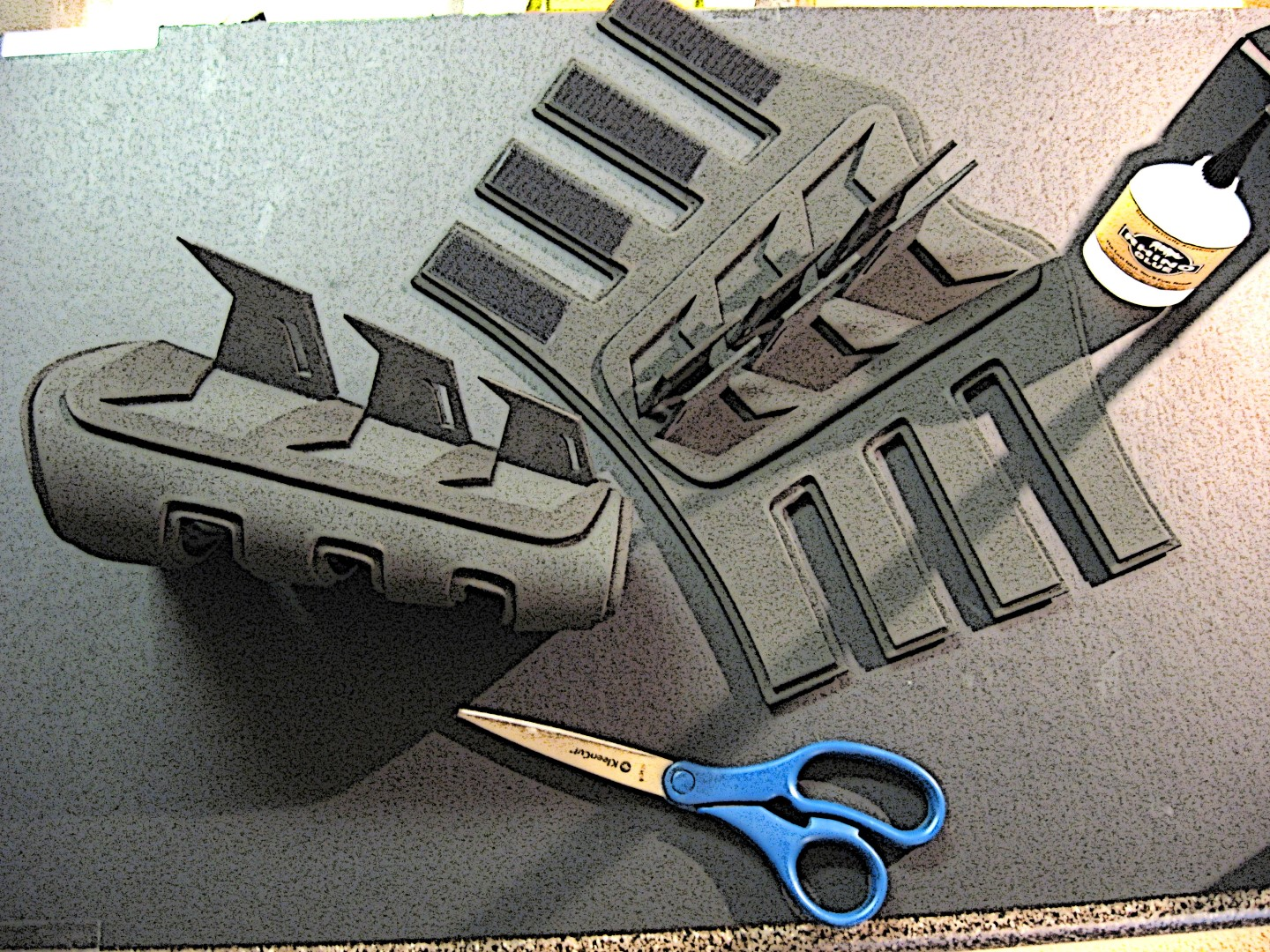 How to make dark knight batman gauntlets