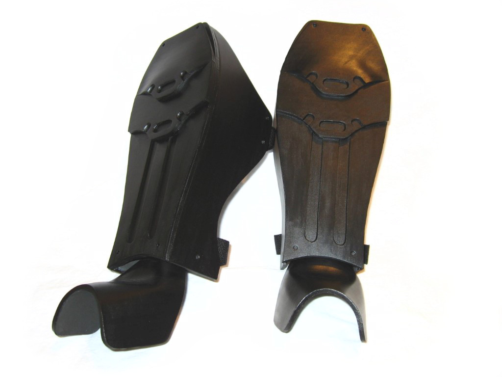 How to make batman arkham city shin guards boot covers