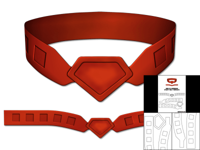 Template for New 52 Superman Utility Belt – The Foam Cave