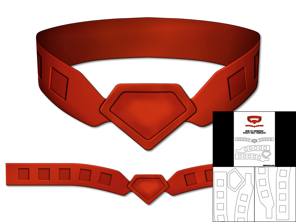 Superman Template | Template For New 52 Superman Utility Belt The Foam Cave