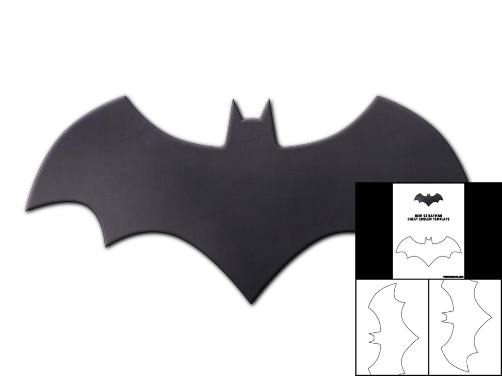 template for new 52 batman chest emblem u2013 the foam cave
