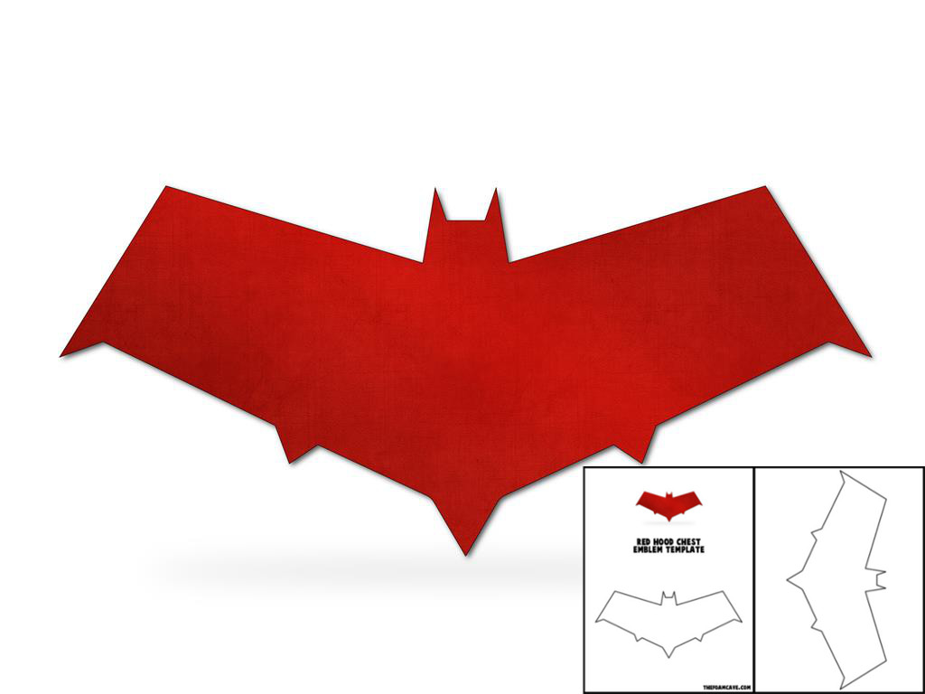template for red hood chest emblem u2013 the foam cave