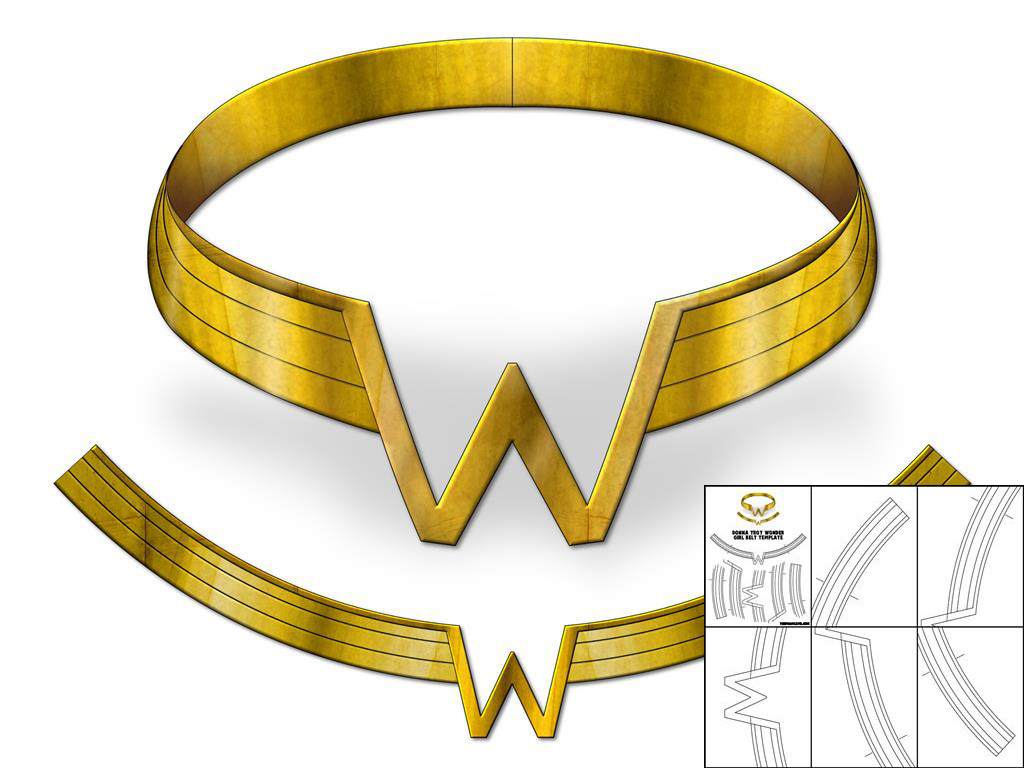 Template for donna troy wonder girl belt the foam cave template for donna troy wonder pronofoot35fo Choice Image
