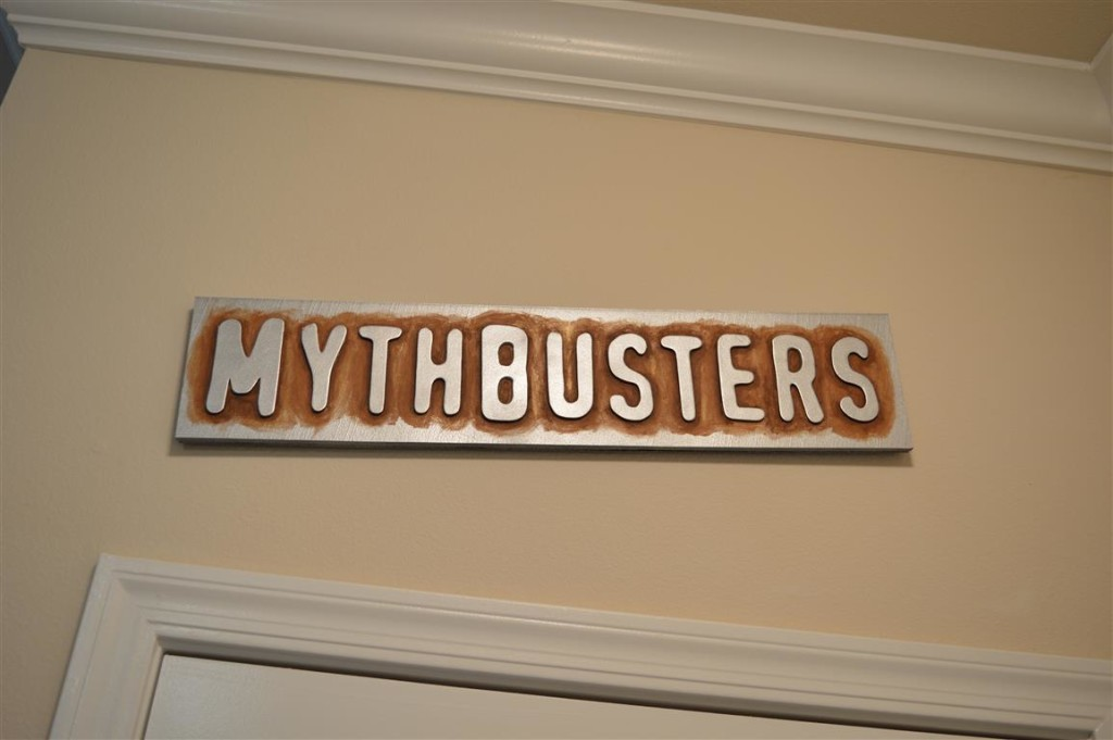 Mythbusters Sign The Foam Cave