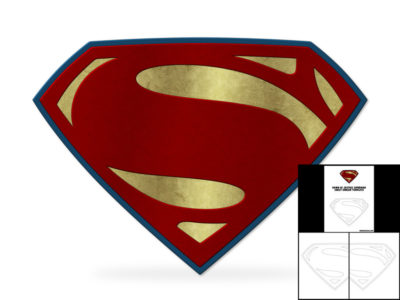 Template for Dawn of Justice Superman Chest Emblem – The Foam Cave