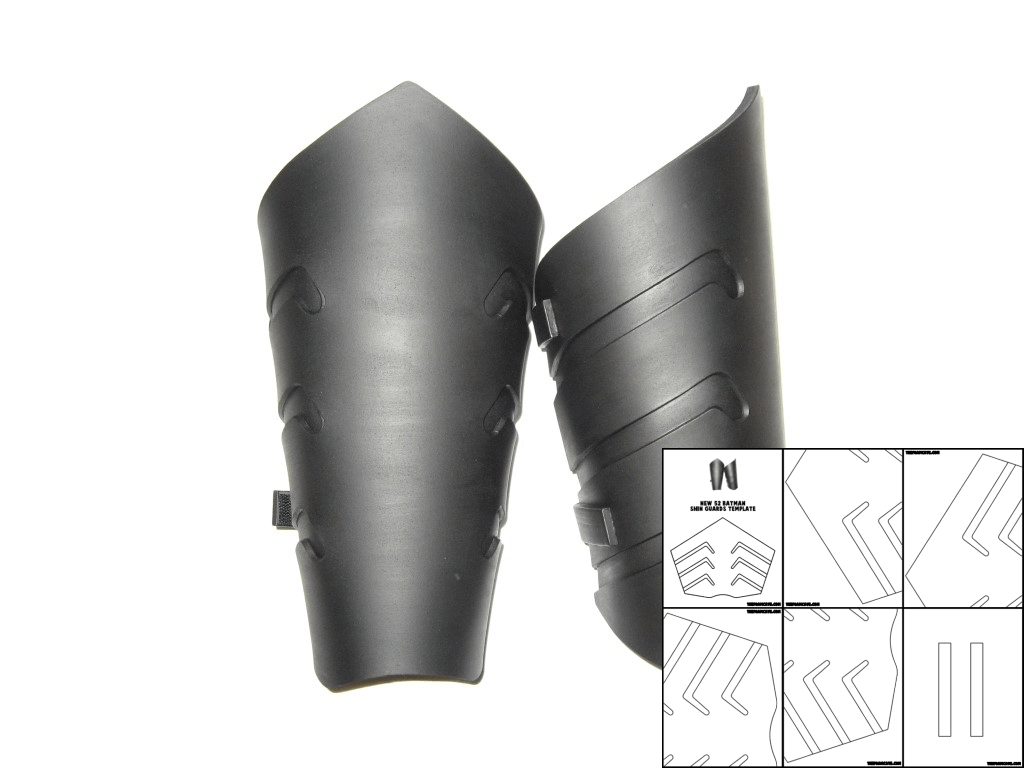 template for new 52 batman shin guards � the foam cave