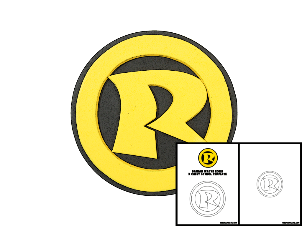 Template For Damian Wayne Robin R Chest Symbol The Foam Cave