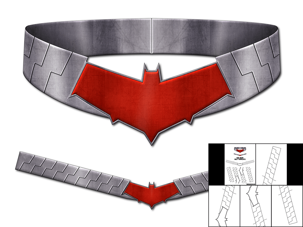 Template For Red Hood Belt The Foam Cave