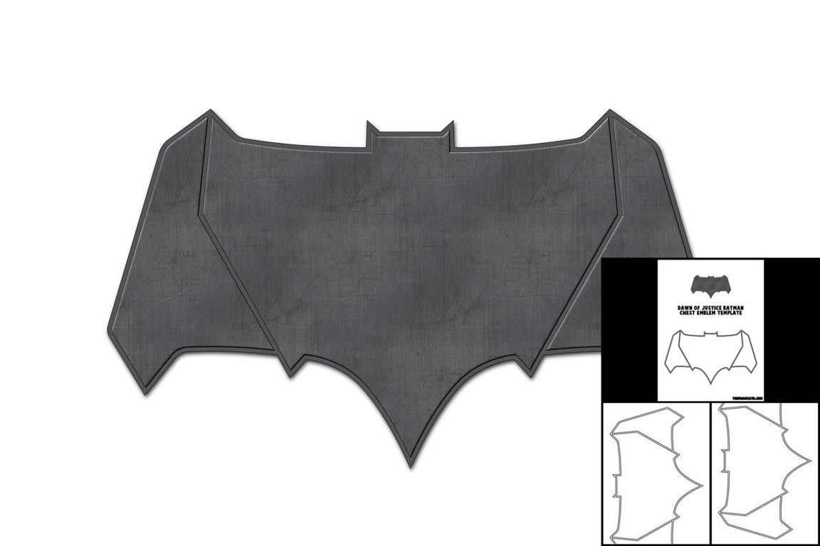 Template for Dawn of Justice Batman Chest Emblem – The Foam Cave
