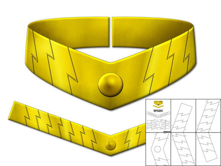 template for shazam utility belt the foam cave
