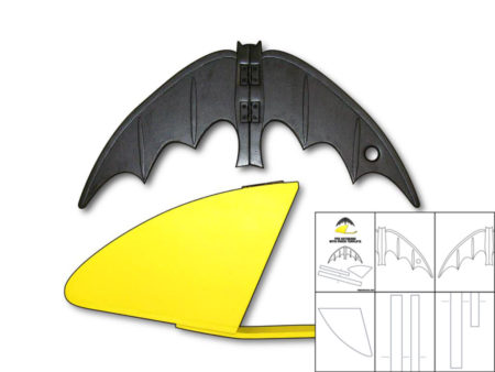 template for 1966 batarang and pouch the foam cave