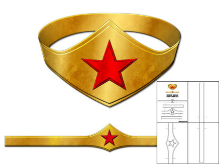 photograph regarding Wonder Woman Template Printable identified as Template for Speculate Girl Tiara