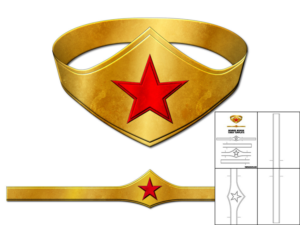 Template For Wonder Woman Tiara The Foam Cave