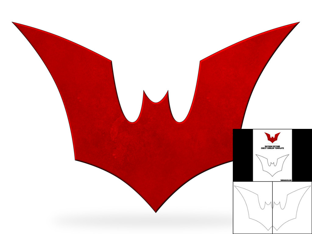 Template For Batman Beyond Chest Emblem The Foam Cave