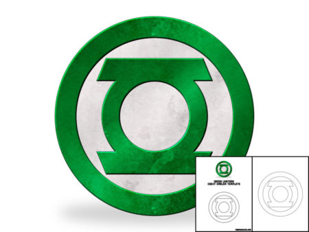 Template For Green Lantern Chest Emblem The Foam Cave