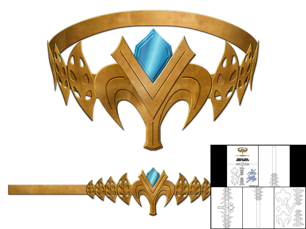 Template For Princess Zelda Crown The Foam Cave
