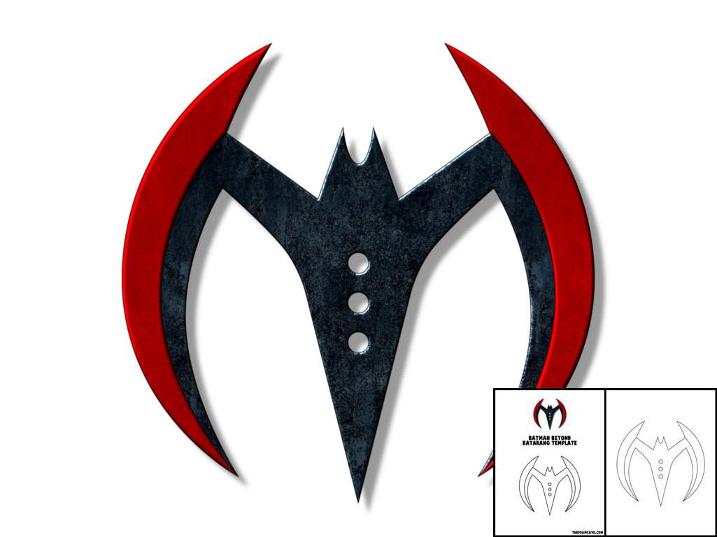 template for batman beyond batarang the foam cave