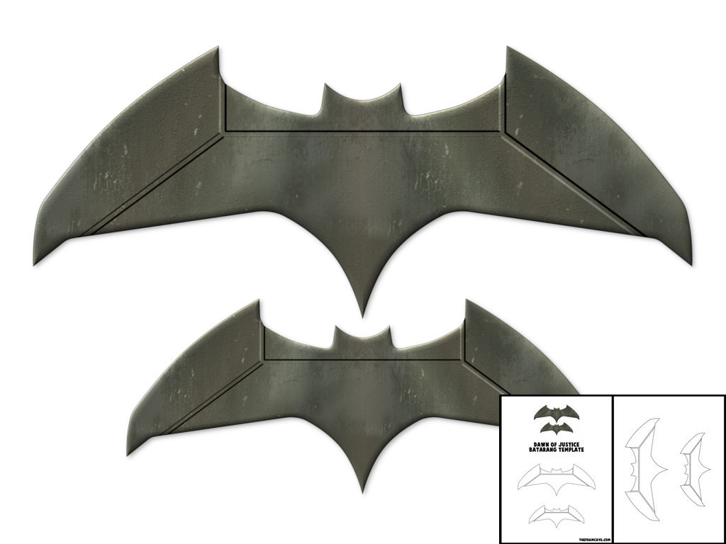 template for dawn of justice batarang the foam cave