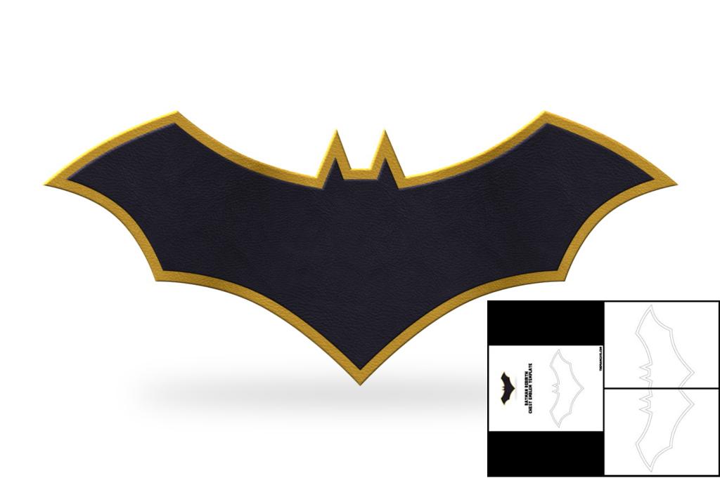 Template For Batman Rebirth Chest Emblem The Foam Cave